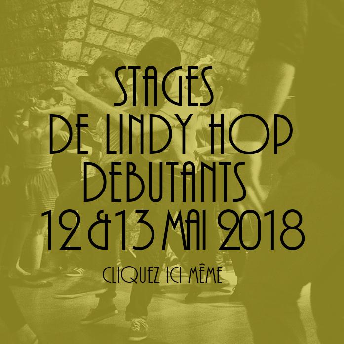 STAGE 12 ET 13 MAI DE LINDY HOP DEBUTANTS