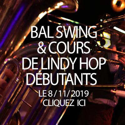 Cours de lindy hop le 8 novembre au studio de l'Ermitage